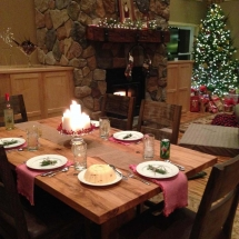 Karrie's finished christmas table moment