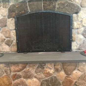 Fire place screen 8